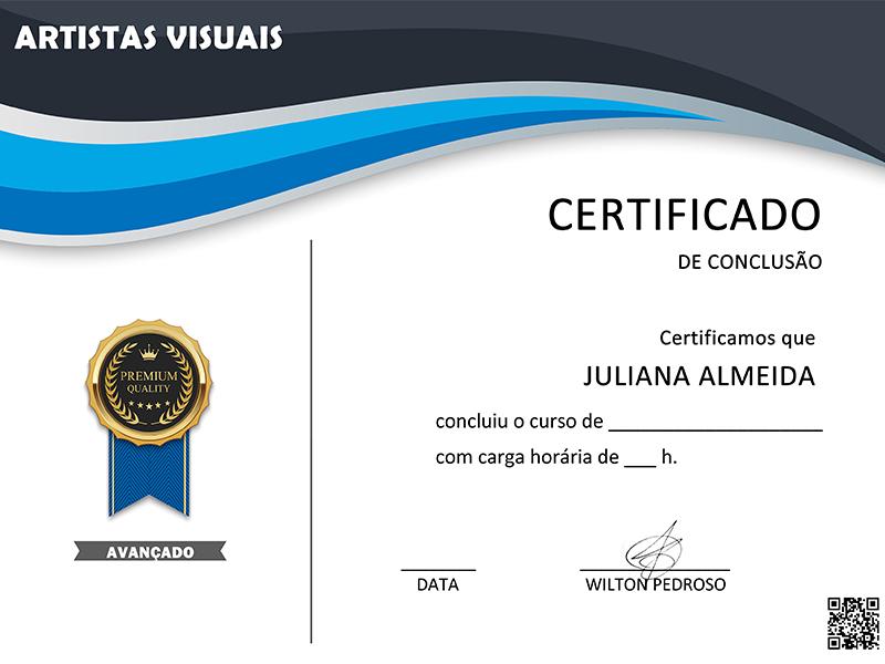 Certificação Individual Escola Artistas Visuais